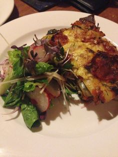 Vegetable lasagne with cos, radish and parsley slaw