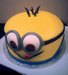 Minion cake, kids party, despicable me, cute, cakes