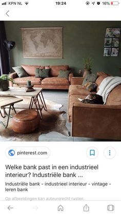 Brown Home Decor, Green And Brown, House Colors, Sofa, Table, Furniture, Living Rooms, Lounges, Settee