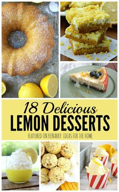 Wow! So many great lemon desserts to try this summer, including lemon cake, lemon pie, lemon bars and more! I love these recipe ideas to make for a picnic, barbecue or family party.