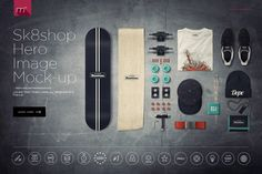 Skateshop Hero Image Mock-up by mesmeriseme.pro on @creativemarket