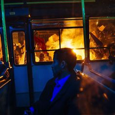 Turkeys conservative ruling party won an unexpected victory in Sundays parliamentary elections dashing opposition hopes and cementing the rule of president Recep Tayyip Erdoğan. The news sent people in the streets  some to protest other to celebrate. In this photograph by @dimitardilkoff of @afpphoto@gettyimages a bus is seen driving past supporters of Turkey's Justice and Development Party (AKP) as they celebrate in Istanbul after the first results in the country's general election on…