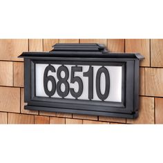 Black Series Solar-Powered Lighted Address Plaque - Overstock™ Shopping - Great Deals on The Black Series Solar Lights