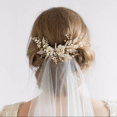 Complete your bridal look with the perfect wedding Veils; Wedding Veils Online, Wedding Veils for Bridal Headpieces, Vintage Inspired Wedding Veils Bridal Veils And Headpieces, Headpiece Wedding, Wedding Veils, Gold Headpiece, Bridal Updo With Veil, Wedding Dresses, Bridal Bun, Wedding Garters, Bride Hair With Veil