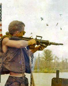 Firing an M60!  Vietnam War