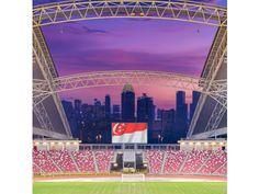 National Stadium, Crown Jewel, Roof, Sports Stadium Seats, Singapore Cityscape, Singapore Sports Hub. Photo by Rory Daniel.