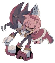 "Shadow: ah. *too much touching. Who is touching me!!!* Amy: ""sonic!"""