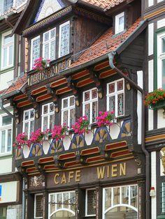 "Wernigerode ""cafe Wien"", very nice old building"