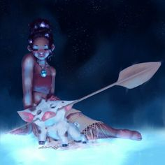 And when it's time to find home We know the way Moana and Pua fanart from Tumbrl #moana #disney #fanart #pua