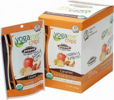Yogavive Caramel Apple Chips are extremely low in calories (only 35 per serving) and contain one whole apple per bag! The apples used for these chips are grown without toxic pesticides!  Plus, they are fat and gluten free and contain no added sugar. Learn more: http://www.low-caloriediet.com/desserts-food/yogavive-caramel-apple-chips