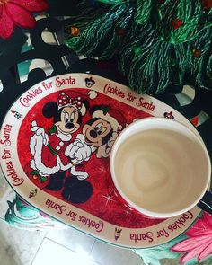 Disney Cookies and Milk for Santa Holiday Glass and Plate ...