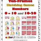 Ten-Frames Matching Games (Numbers 0-10 and 10-20)  This is a zipped file.  Students match the numbers 0-10 and 10-20 to the ten-frames.  Both sets...