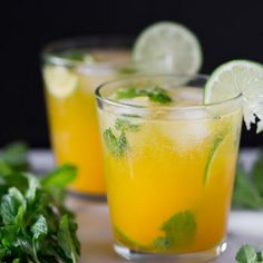 Mango Mojito is the perfect combination of Rum, Mint and sweet Mango nectar. This drink is perfect for sipping by the pool and dreaming of warm weather. Summer Cocktails, Cocktail Drinks, Cocktail Recipes, Mango Cocktail, Dinner Recipes, Party Drinks, Fun Drinks, Beverages, Cold Drinks