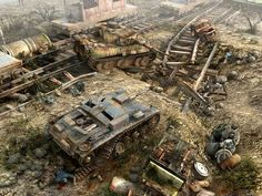 Kursk.  As Benjamin pointed out, this is from a video game it is not a diorama.  Amazing what they are doing with 3D graphics on these games.