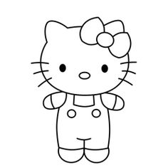 Learn how to draw Hello Kitty, the popular and very adorable Sanrio cartoon cat character from Japan - in this simple step by step drawing lesson. Super Easy Drawings, Easy Cartoon Drawings, Cartoon Drawing Tutorial, Cartoon Sketches, Hello Kitty Clipart, Hello Kitty Cartoon, Hello Kitty Characters, Hello Kitty Pictures, Kitty Images