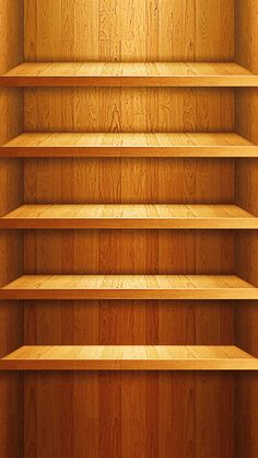 iPhone 5 Wallpapers: Wooden Shelves iPhone 5 Background Wooden