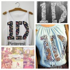 DIY One Direction shirt. pinner says:           I made mine last night!! :) I hope me and my friend could make this