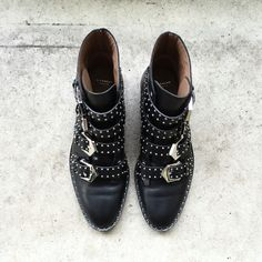 Givenchy studded boots via OVRSLO