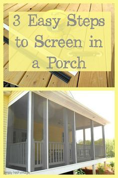 New Pergola Patio Ideas Inspiration Front Porches Ideas Screened Porch Doors, Screened Porch Designs, Screened In Patio, Front Porches, Porch Stairs, Small Patio, Diy Screen Door, Screen House, Screen Doors