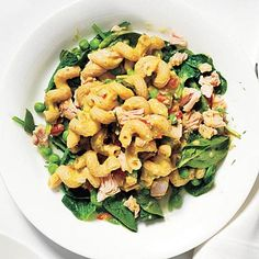 This tuna and vegetable pasta salad is a great mix of lean protein, carbs, and minerals. #nutrition #diet | health.com
