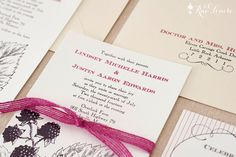 Wild Blackberries Wedding Invitation Sample Pack