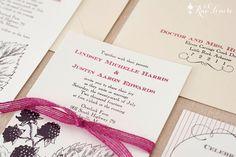 Wild Blackberries Wedding Invitation Sample Pack