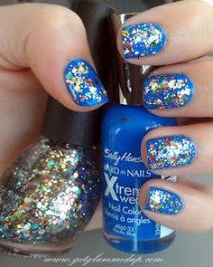Sally Hansen Pacific Blue & Nicole by OPI Rainbow in the S-Kylie
