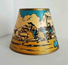 Vintage Rodeo Cowboy Lampshade by junkindatrunkgirls on Etsy, $21.00