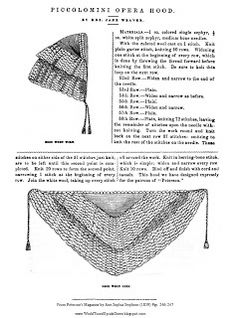World Turn'd Upside Down: Godey's Lady's Book Opera Hood: Knitting in the Middle of the Summer!