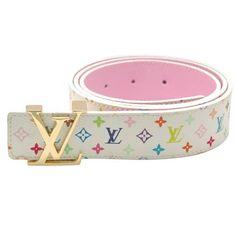 Louis Vuitton Multicolor Monogram Gold Lv Iniltales Belt LB4405-564 f1e806bcc37