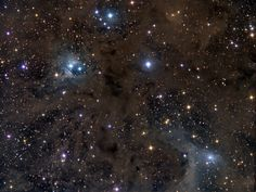 This composition in stardust covers almost 2 degrees on the sky, close to the border of the zodiacal constellation Aries and the plane of our Milky Way Galaxy. At the lower right of the gorgeous skyscape is a dusty blue reflection nebula surrounding a bright star cataloged as van den Bergh 13 (vdB 13), about 1,000 light-years away. At that estimated distance, the cosmic canvas is over 30 light-years across.