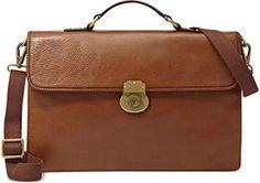 Shop Fossil Bag Estate Leather Portfolio Briefcase for $248: http://lookastic.com/men/brown-leather-briefcase/shop/fossil-bag-estate-leather-portfolio-briefcase-1025