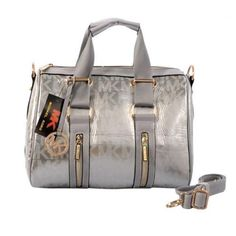 70ebfaf2884537 Best Michael Kors Grayson Logo Large Silver Satchels Popular In The World  Cheap Handbags, Cheap