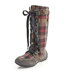 "Relativity® ""Arctic"" Cold Weather Boot - Brown Plaid $59.99"