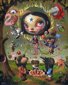 Mark Ryden Galleries One Nine Eight Eight: September 2008 Mark Ryden, Creepy Art, Weird Art, Fantasy Kunst, Fantasy Art, Mark Brown, Alice, Lowbrow Art, Graphic Illustration