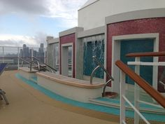 Spice does have a water feature for cooling off. Adults only deck space Norwegian Breakaway, Water Features, Caribbean, Sailing, Spice, Cruise, Deck, Stairs, Florida