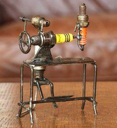 29 Spark Plug Ideas Metal Art Scrap Metal Art Welding Art
