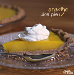 Homemade juice pie!  You can use any non-concentrate juice.