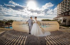 In the thick of wedding season here on Okinawa. Shooting at Alivila resort with a Japanese couple.
