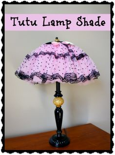 Tutu Lampshade…a cute idea for a girls room.  No sewing necessary, just use a glue gun!