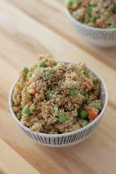 crockpot chicken fried quinoa or rice.