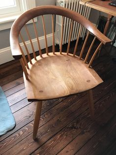 I love Thos Moser furniture and it's extremely difficult to find on the resale market since these are heirloom pieces! Rocking Chair Plans, Rocking Chairs, Wooden Furniture, Furniture Design, Furniture Ideas, Dining Chairs, Wood Chairs, Piano Bench, Love Chair