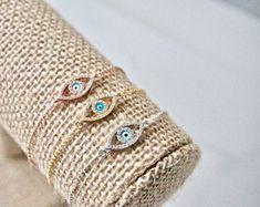 Blue Evil Eye Bracelet, Silver Evil Eye Bracelet, Gold Evil Eye Bracelet, Rose Gold Evil Eye Bracelet, Protection, Good Luck Bracelet,