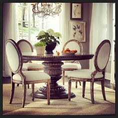 Daphne Dining Room Set w/ Anthousa Chairs Dining Room Sets, Dining Room Table, Pulaski Furniture, Furniture Dining Table, Lounge, Sofa, Room Interior, Living Room Decor, Inspiration
