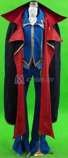 Code Geass Zero 2nd Cosplay Costume