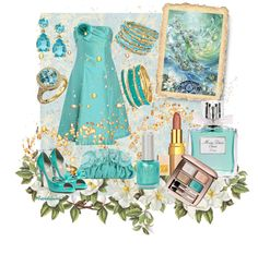 """""""The Colors: Turquoise"""" by fiordiluna on Polyvore"""