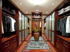 Boutique Chic - 10 Stylish Walk-In Bedroom Closets on HGTV