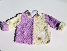 Vintage Chenille Jacket Size 2 – Lavender and Old Lace