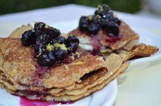 Blueberry Quinoa Crepes with Lemon Ricotta >> RECIPE:  http://thebikinichef.com/recipe/blueberry-quinoa-crepes-lemon-ricotta/