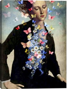 Spring Awakening Figurative Canvas Wall Art Print by Catrin Welz-Stein
